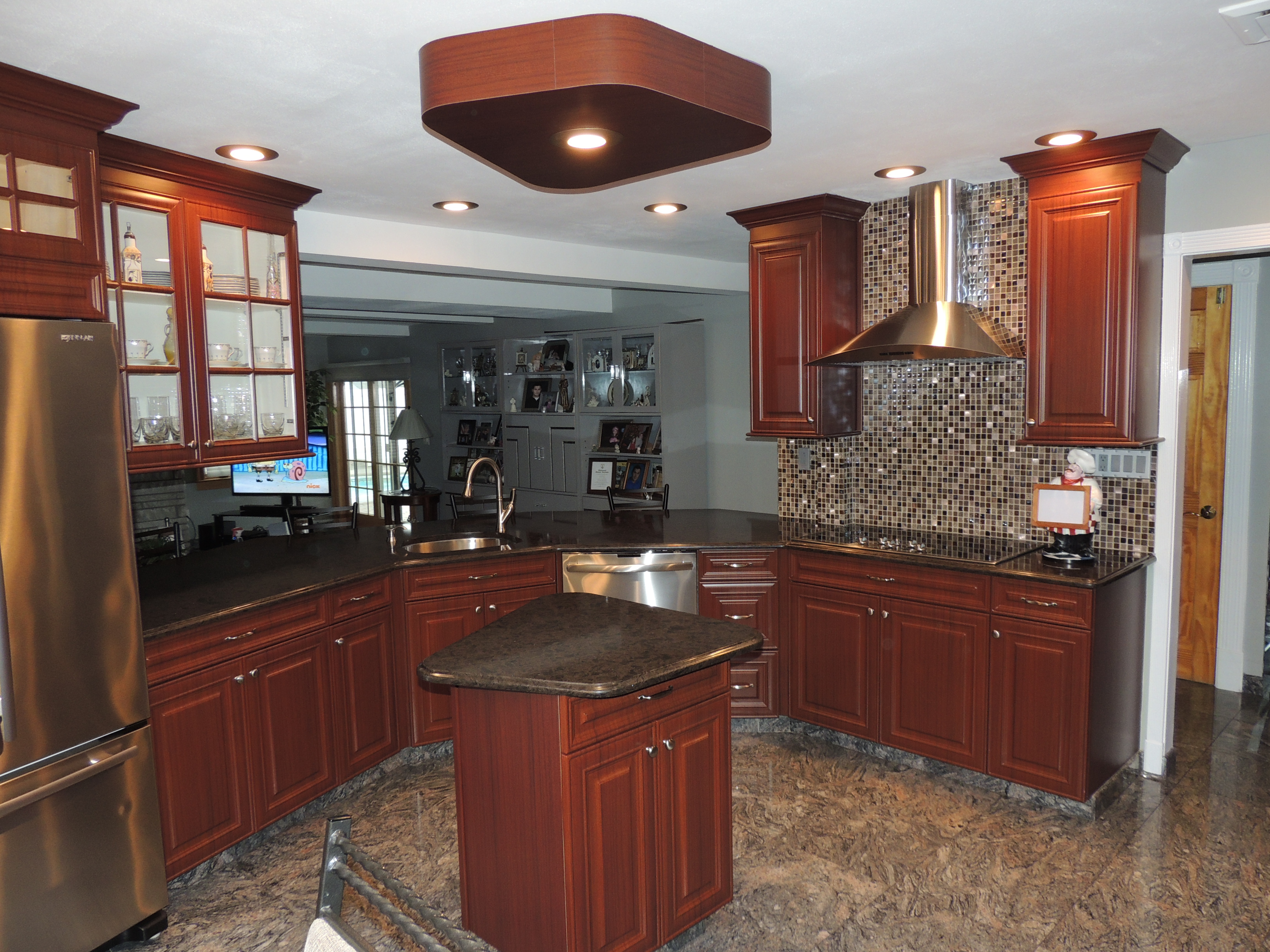Long island kitchen cabinet refacing for Long kitchen cupboard